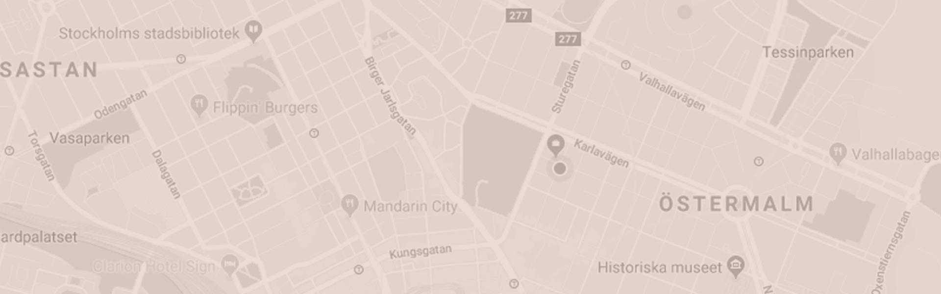 Karta över Stockholm där Lagerlöfs hjälper dig köpa bostad