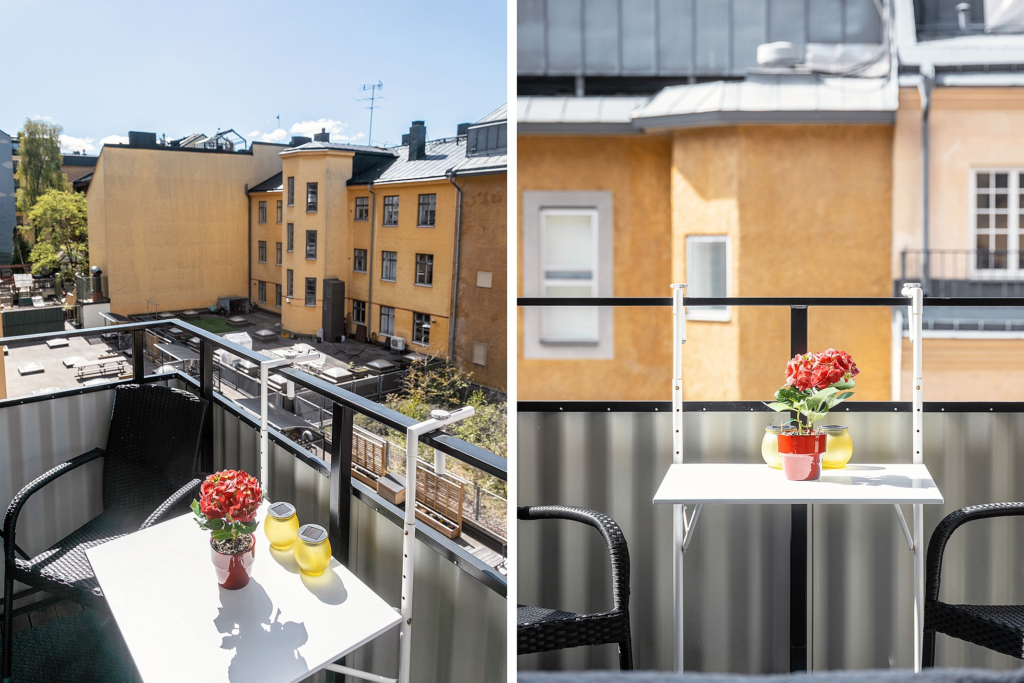 Högt läge och dubbla balkonger