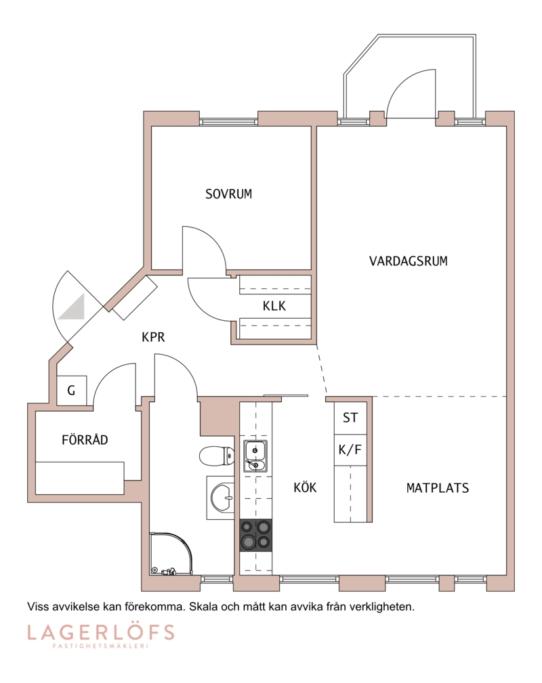 Optimalt planerad 2:a med grönskande pergola i sydväst mod lugn innergård