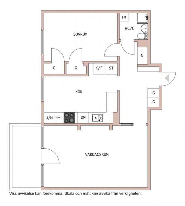 Fräsch 2:a med balkong